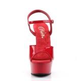 Röd 15 cm DELIGHT-609 pleaser high heels skor