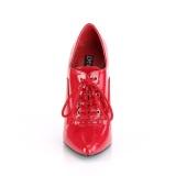 Röd 15 cm DOMINA-460 oxford skor med höga klackar