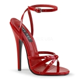 R�d 15 cm Devious DOMINA-108 h�gklackade sandaletter