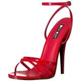 Röd 15 cm Devious DOMINA-108 högklackade sandaletter
