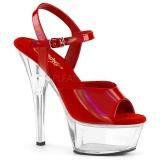 Röd 15 cm Pleaser KISS-209BHG Platform Högklackade Skor
