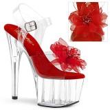 Röd 18 cm ADORE-708BFL pleaser platåsandaletter för kvinnor
