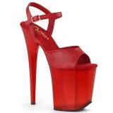 Röd 18 cm FLAMINGO-809T Akryl platå klackar skor