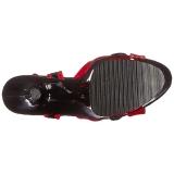Röd 18 cm Pleaser MOON-728 Platform High Heels Skor