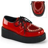 Röd 5 cm CREEPER-108 creepers skor dam platåskor med tjock sula