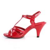 Röd 8 cm Fabulicious BELLE-322 högklackade sandaletter