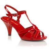 Röd 8 cm Fabulicious BELLE-322 kvinnor sandaler med låg klack