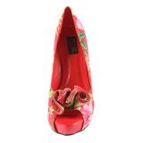 Röd Blom 13 cm LOLITA-11 damskor med hög klack
