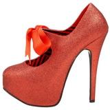 Röd Glitter 14,5 cm TEEZE-04G damskor med hög klack