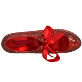 Röd Glitter 14,5 cm TEEZE-10G Platform Pumps Skor