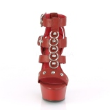 Röd Konstläder 15 cm DELIGHT-658 pleaser skor med höga klackar