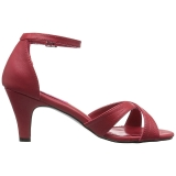 Röd Konstläder 7,5 cm DIVINE-435 stora storlekar sandaler dam