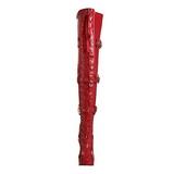 Röd Lack 13 cm ELECTRA-3028 Overknee Stövlar med Klackar