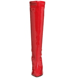 Röd Lack 13 cm Pleaser SEDUCE-2000 Stövlar Dam