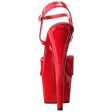Röd Lack 18 cm ADORE-709 Platform Högklackade Skor