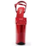 Röd Lack 23 cm INFINITY-909 Skyhöga klackskor extrema platå