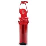 Röd Lack 25,5 cm BEYOND-012 Skyhöga klackskor extrema platå