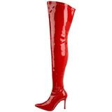 Röd Lack 9,5 cm LUST-3000 Lårhöga Stövlar med klack