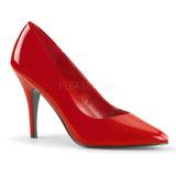 Röd Lackerade 10 cm VANITY-420 spetsiga pumps med höga klackar