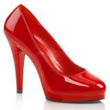 Röd Lackerade 11,5 cm FLAIR-480 dam pumps för män