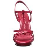 Röd Lackerade 12 cm FLAIR-420 Höga Klackar Skor för Män