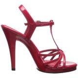Röd Lackerade 12 cm FLAIR-420 Högklackade Dam Sandaletter