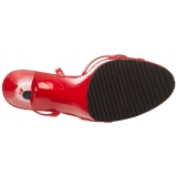 Röd Lackerade 12 cm FLAIR-436 Högklackade Dam Sandaletter