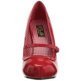 Röd Lackerade 12 cm retro vintage CUTIEPIE-02 mary jane pumps med dold platå
