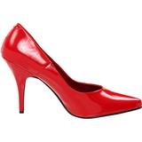 Röd Lackerade 13 cm SEDUCE-420 spetsiga pumps med höga klackar