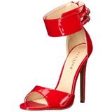 Röd Lackerade 13 cm SEXY-19 Höga Fest Sandaler med Klack
