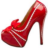 Röd Lackerade 14,5 cm Burlesque TEEZE-14 damskor med hög klack