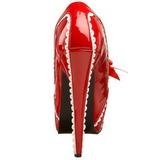 Röd Lackerade 14,5 cm TEEZE-14 damskor med hög klack