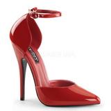Röd Lackerade 15 cm DOMINA-402 kvinnor pumps med låg klack