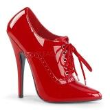 Röd Lackerade 15 cm DOMINA-460 Pumps skor för kvinnor