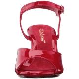 Röd Lackerade 8 cm BELLE-309 Högklackade Dam Sandaletter