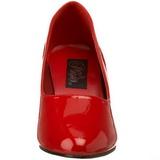 Röd Lackerade 8 cm DIVINE-420W Hög Klackade Pumps för Män