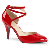Röd Lackläder 10 cm DREAM-408 stora storlekar pumps skor