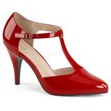 Röd Lackläder 10 cm DREAM-425 stora storlekar pumps skor