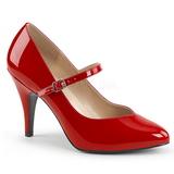 Röd Lackläder 10 cm DREAM-428 stora storlekar pumps skor