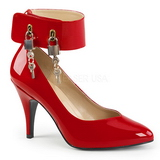 Röd Lackläder 10 cm DREAM-432 stora storlekar pumps skor