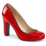 Röd Lackläder 10 cm QUEEN-04 stora storlekar pumps skor