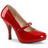 Röd Lackläder 11,5 cm PINUP-01 stora storlekar pumps skor