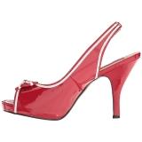 Röd Lackläder 11,5 cm PINUP-10 stora storlekar sandaler dam
