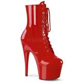 Röd Lackläder 18 cm ADORE-1020 platå stövletter dam