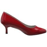 Röd Lackläder 6,5 cm KITTEN-01 stora storlekar pumps skor