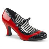 Röd Lackläder 7,5 cm JENNA-06 stora storlekar pumps skor