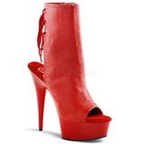 Röd Matt 15 cm DELIGHT-1018 Platå Stövletter