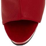 Röd Matt 16 cm DELIGHT-1018 Platå Stövletter