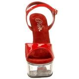 Röd Transparent 15 cm CAPTIVA-609 Platå Högklackade Skor