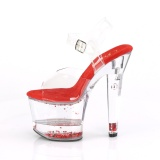Röd glittriga klackar 18 cm LOVESICK-708GH pole dance skor